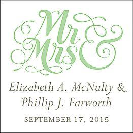 Mr. & Mrs. White Gift Tag Label
