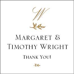 Bough Monogram Gift Tag Label
