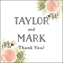Painted Floral Gift Tag Label