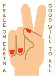 Peace Sign Card