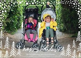 Pollenpine Snow Holiday Photo Card