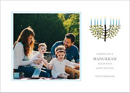Olive Tree Menorah Holiday Photo Card