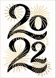 A Sparkling New Year Greeting Card