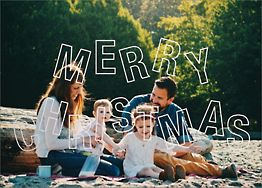 Jubilant Jumble Merry Christmas Holiday Photo Card