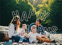 Jubilant Jumble Happy Holidays Photo Card