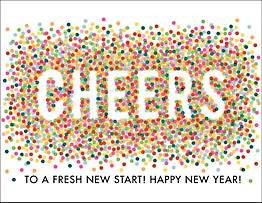 Cheers Confetti New Year Card