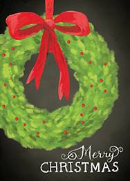 Boxwood Wreath Holiday Card