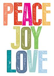 Peace, Joy, Love Brights Holiday Card