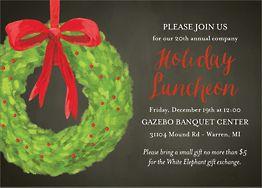 Wreath Holiday Invitation