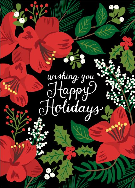 Holiday Floral Holiday Card