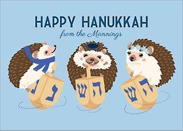 Hanukkah Hedgehogs Holiday Card