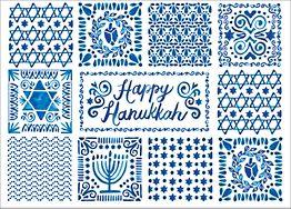 Hanukkah Tiles Holiday Card