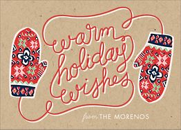 Mittens Holiday Card