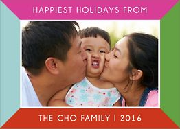 Colorful Frame Holiday Photo Card