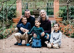 Happiest Hanukkah Holiday Photo Card Horizontal