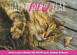 Happy Mew Year Holiday Photo Card