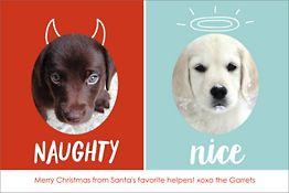 Naughty Nice Holiday Postcard