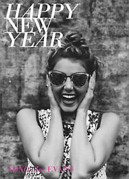 Happy New Year Holiday Photo Card Vertical