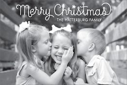 Loop Script Merry Christmas Postcard