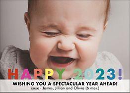 Happy 2017 Holiday Photo Card Horizontal