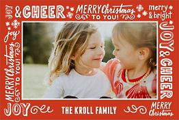 Happy 2018 Holiday Photo Card Vertical