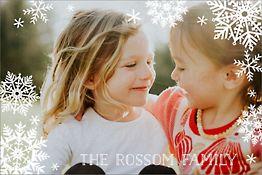 Snowflakes Holiday Postcard