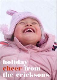 Holiday Cheer Holiday Photo Card