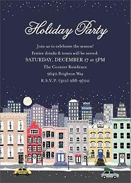 Snowy City Invitation