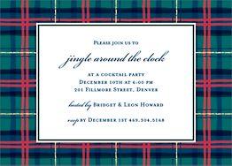 Plaid Invitation