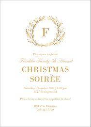 Wreath Monogram Invitation