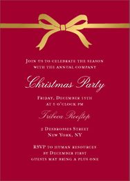 Bow Holiday Invitation