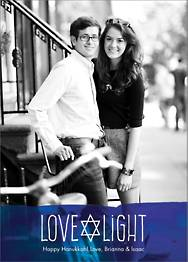 Love Light Hanukkah Holiday Photo Card