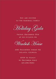Pine Border Foil Party Invitation