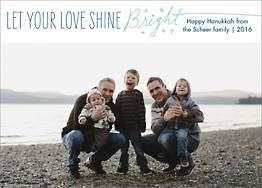 Love Shine Bright Holiday Photo Card