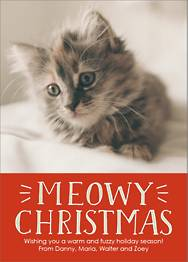 Meowy Christmas Holiday Photo Card