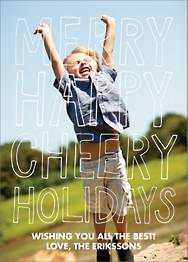 Merry Happy Cheery Holiday Photo Card
