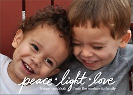 Peace Light Love Holiday Photo Card Horizontal