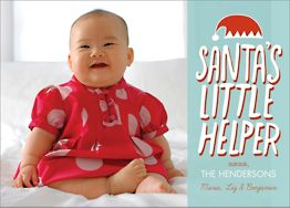 Santa's Helper Holiday Photo Card