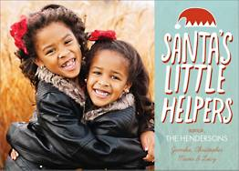 Santa's Helpers Holiday Photo Card