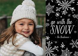 Go With The Snow Holiday Photo Card