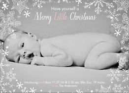 Snowflake Holiday Photo Card Horizontal