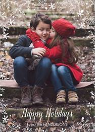 Snowflake Holiday Photo Card Vertical