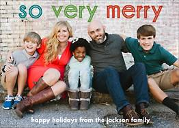 So Very Merry Colorful Holiday Photo Card