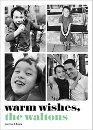 Warm Wishes Multi Holiday Photo Card