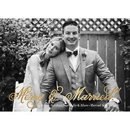 Merry Married Foil Photo Card