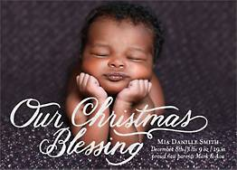 Christmas Blessing Foil Photo Card