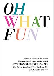Oh What Fun Multicolor Holiday Party Invitation