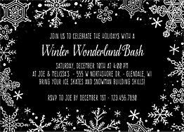 Snowflake Splatter Holiday Party Invitation