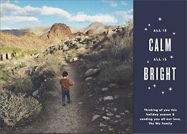 Calm and Bright Photo Card