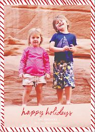 Candy Stripe Holiday Photo Card
